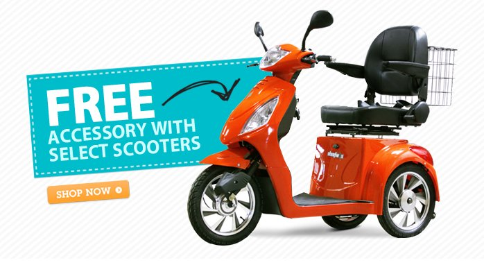 Free Accessory with Select Scooters